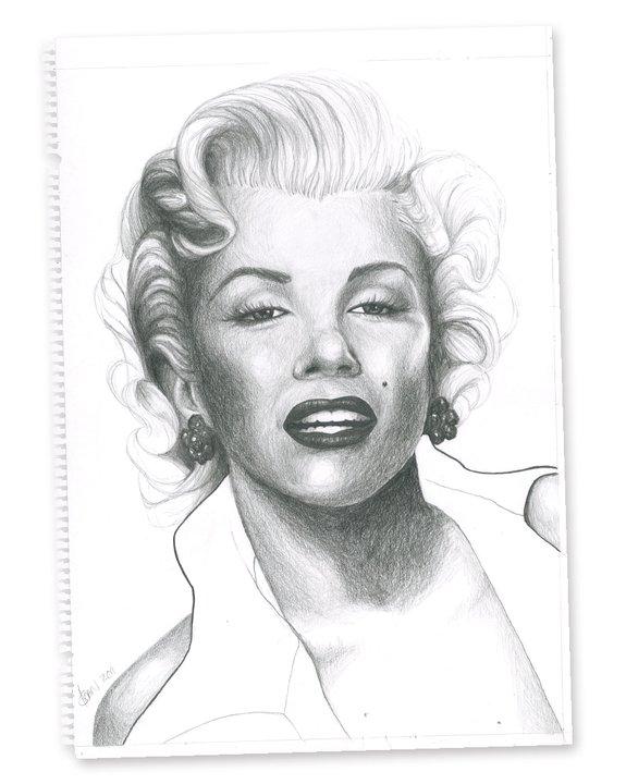 Marilyn #2, Pencil on Paper, 201069_451675_n