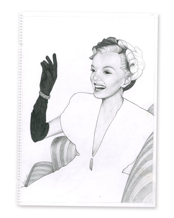 Marilyn #3, Pencil on Paper, 2010