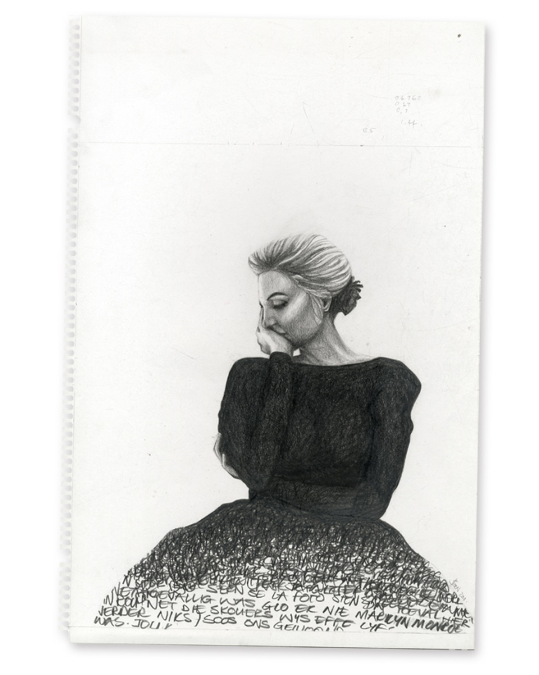 Marilyn #4, Pencil on Paper, 2010