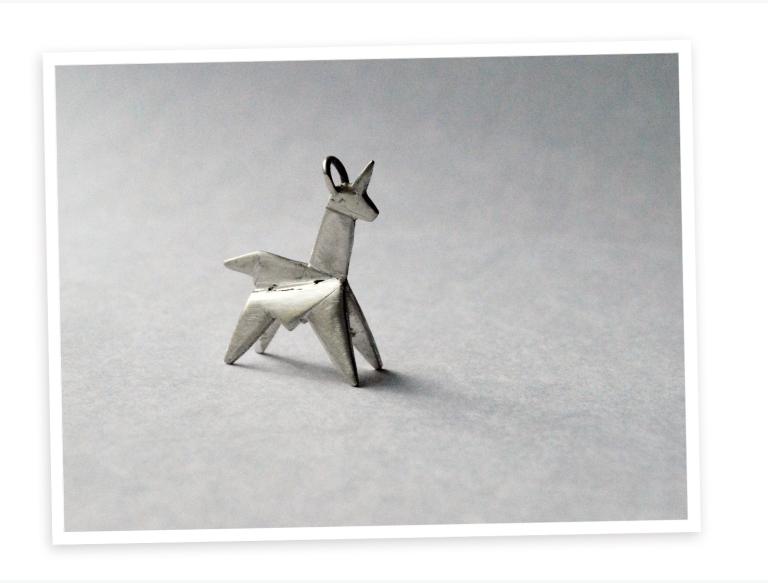 silver-orgami-unicorn