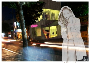 at Night, Digital Print, 2013