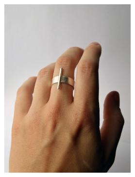 Bar Ring II, Silver, 2015