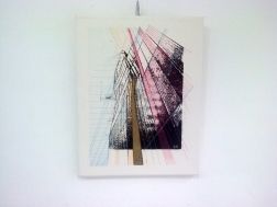 Artefact, Screen print and embroidery on canvas, 2015