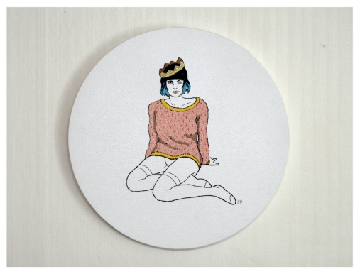 Girl I, Embroidery on canvas, 2015