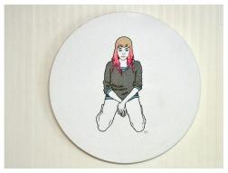 Girl II, Embroidery on canvas, 2015