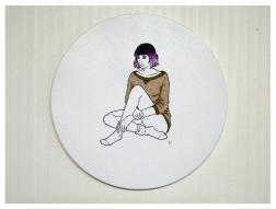 Girl III, Embroidery on canvas, 2015