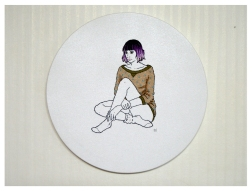Girl III, Embroidery on canvas, 2015